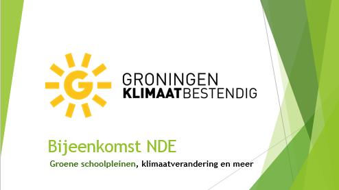 groene schoolpleinen klimaatadaptatie afbeelding van dia